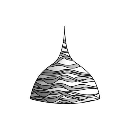 Tin foil hat in black stroke. isolated object Illustration