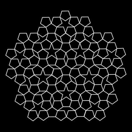 pattern parquet   mosaics. black and white. vector