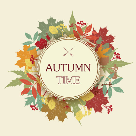 abstract floral: Autumn abstract floral background.