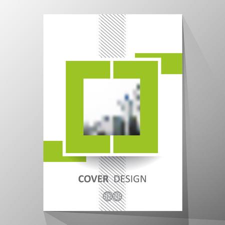 Modern omslagontwerp, lay-out brochuremalplaatje, abstracte samenstelling, dekkingspresentatie op a4. Geometrisch ontwerp.