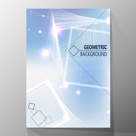 datebook: Modern cover design, layout brochure template, abstract composition, cover presentation on a4. Geometric design.