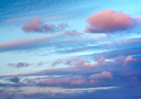 wheater: A beautiful sky just before sunset after a rainy day. Stock Photo