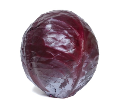 red cabbage: Fresh red cabbage on a white background.