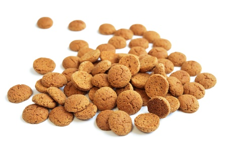 nicolas: Ginger nuts or pepernoten, a traditional Dutch december sweet. Stock Photo