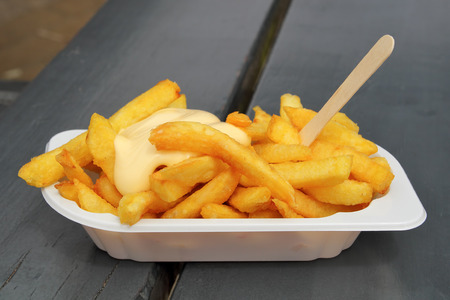 frites: French fries with mayonaise.