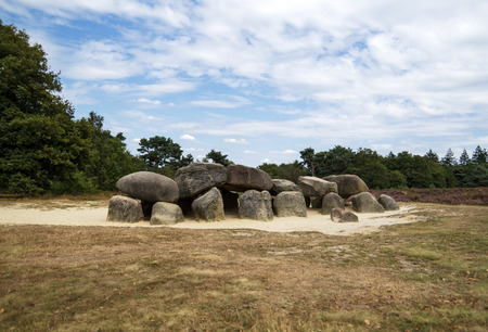 erratic: An ancient megalithic tomb in the Netherlands.