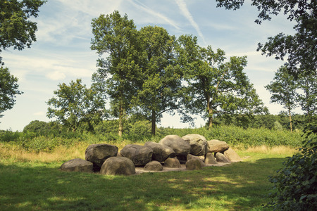 chambered: An ancient megalithic tomb in the Netherlands.