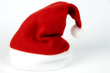 Red hat of Santa Claus on a white background Stock Photo - 6057042