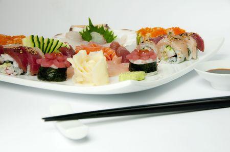 flat with sushi photo