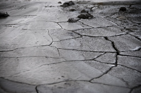 particularly: particularly of land with cracks Stock Photo