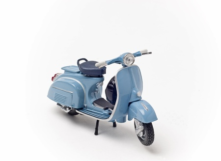 scooter: Italian vintage scooter isolated on white