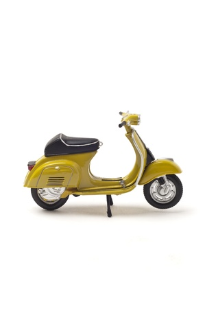 Italian vintage scooter isolated on white photo