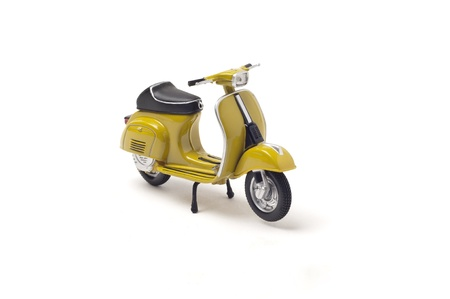 Italian vintage scooter isolated on white Stock Photo - 13772540
