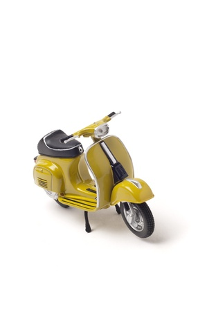 vespa: Italian vintage scooter isolated on white