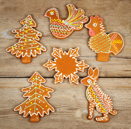 Christmas Cookies on a wooden surface