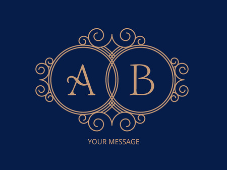 Elegant monogram for two letters. Ilustrace