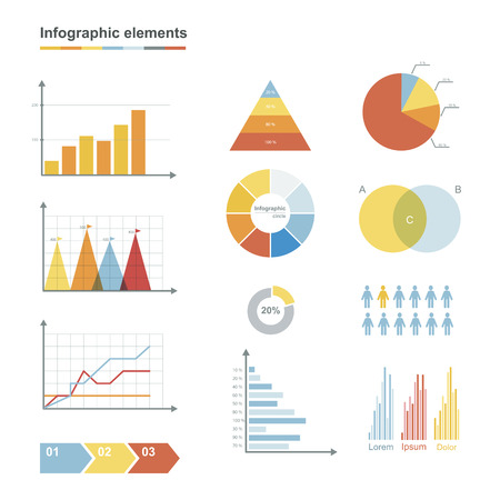 graphs and charts: Big set of nfographic elements, graphs, charts and diagrams