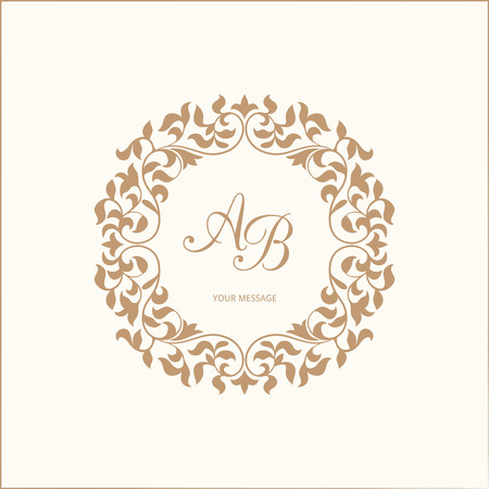 Elegant Floral Monogram Design Template For One Or Two Letters Wedding Calligraphic