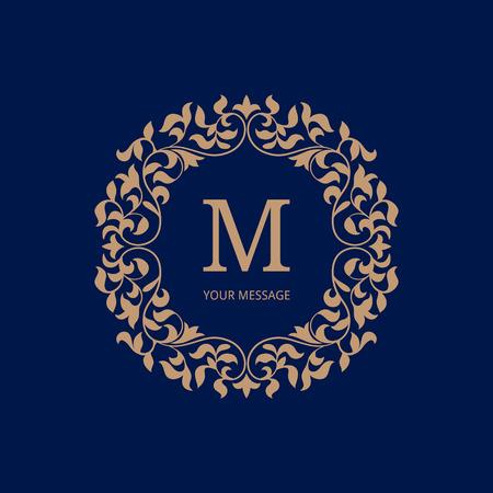 eleganz: Elegante Monogramm-Design-Vorlage. Kalligraphische Blumenverzierung. Kann für Label und Einladungsentwurf .Business Zeichen, monogramm Identität für Restaurant, Geschäft, Café, Hotel, heraldisch, Schmuck verwendet werden.