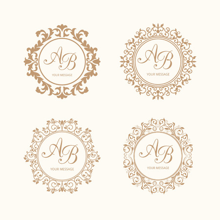 15 973 Wedding Monogram Stock Vector Illustration And Royalty Free