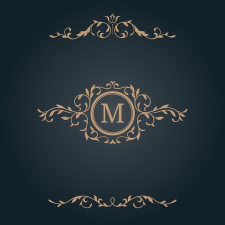 refine: Elegant floral monogram design template and decorative elements. Wedding monogram. Calligraphic elegant ornament. Business sign, monogram identity for restaurant, boutique, hotel, heraldic, jewelry.