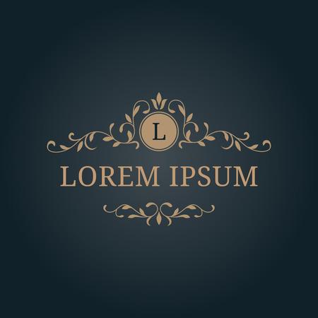 refine: Elegant floral monogram design template with decorative elements. Wedding monogram. Calligraphic elegant ornament. Business sign, monogram identity for restaurant, boutique, hotel, heraldic, jewelry.