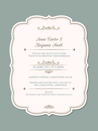 Wedding Invitation Template Royalty Free Cliparts Vectors And