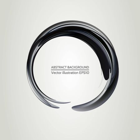 Elegant abstract background. Stylish black round elements for your design.