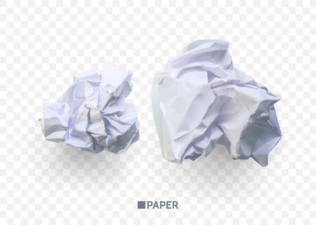 Crumpled paper ball. isolated on transparent background. vector illustration for businnes concept, banner, web site and other