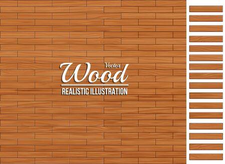 TOP.laminate flooring, wood texture,wood plank perspective, natural wood, realistic, 3d. Tile wood floor striped design background, Vector illustration Ilustracja