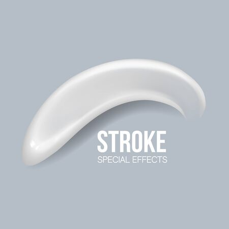 special effects. Blank Strokes. blank liquid .Cosmetic white cream for skin Isolated On transparent Background. smudges white.concealer, cream strokes. Vector