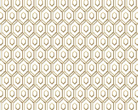 Seamless geometric pattern. Islamic pattern. arabic, east ornament, indian ornament, persian motif, 3D. Ramadan Kareem gold greeting card, banner. geometric ornate, shining vector