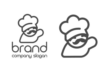 Kitchen Chef Design  template. Hat,fork. isolated logotype icon for Food, cooking, restaurant.vector