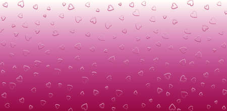 Valentines Day background with many pink and purple hearts. Day of love for two people around the world