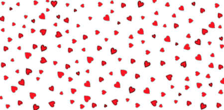 Valentines Day background with many red hearts on a white. Day of love for two people around the world Zdjęcie Seryjne