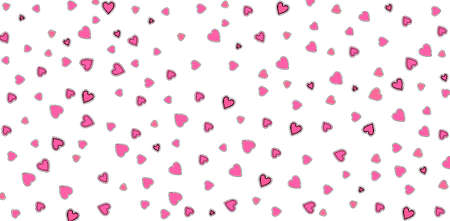 Valentines Day background with many pink hearts on white. Day of love for two people around the world Zdjęcie Seryjne
