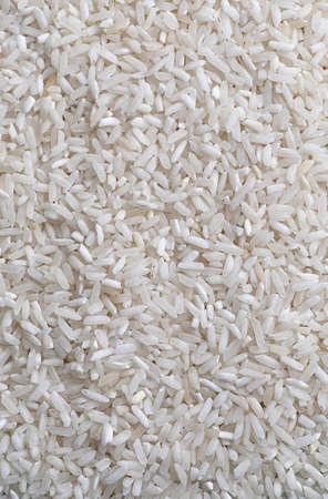 Raw white long rice macro background Zdjęcie Seryjne