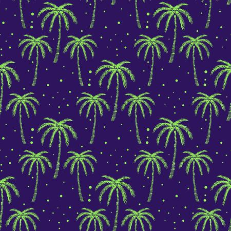 Palm tree pattern seamless texture. Simple illustration of palm tree vector pattern seamless for any web design or textile. Abstract background. Vector