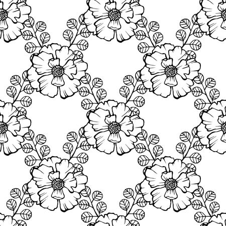 Pattern with white poppies. Stok Fotoğraf - 91168024