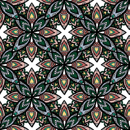 Abstract mayan ornamental seamless pattern - mexican style seamless texture. Vector illustration for your web design.
