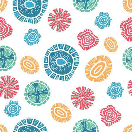 Abstract hand drawn seamless pattern, sharpen , painted elements. Cute labels template. Gold, blue, pink, gray and white colors. Trendy design.