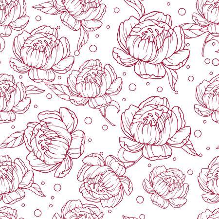 Baroque vintage floral set of rose peony carnation flowers. Black and white Victorian frame border ornament. Engraved leaf scroll vector retro pattern. Filigree design of decorative tattoo Illustration