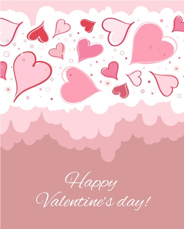 Happy valentines day card. Vector illustration. illustration