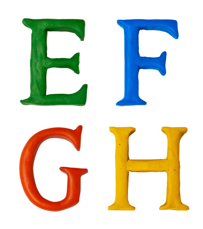 Set of plasticine letters of english alphabet. photo