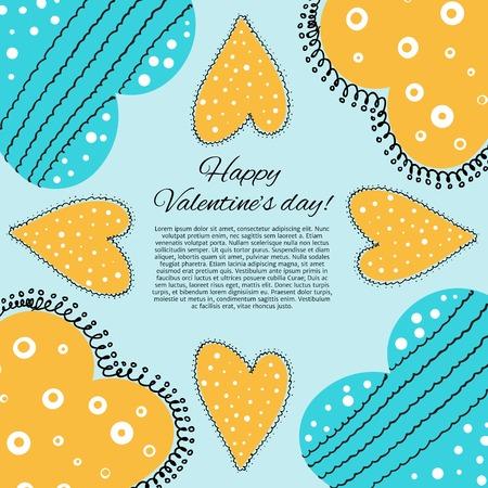 Happy valentines day card. Vector illustration. illustration