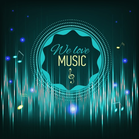 Musical background with key and notes  Vector