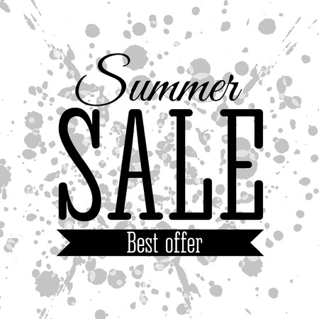 bargains: Vector illustration of typography poster