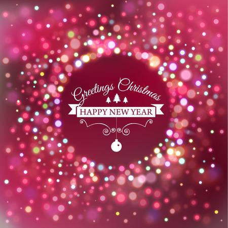 célébration: modèle de carte postale de Noël avec griffonnages. Hand drawn texte. Vector illustration.