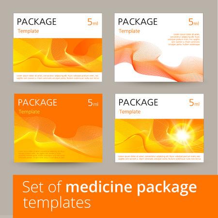 package design: Set of medicine package design with 3d-template. Vector illustration.