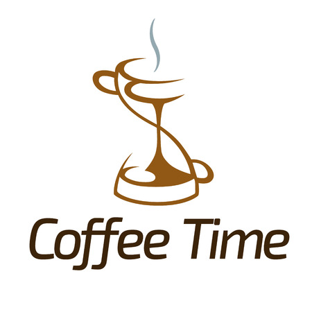 Vector illustration of coffee time logo design.